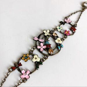 🎉5/20 SALE🎉 Ladybug Floral Enamel Bracelet